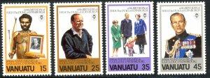 VANUATU 1981 PRINCE PHILIP Birthday Set Sc 304-307 MNH