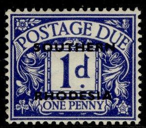 SOUTHERN RHODESIA GVI SG D2, 1d violet-blue, M MINT.