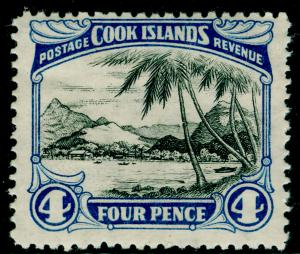 COOK ISLAND Sg141, 4d black and blue, LH MINT.