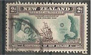NEW ZEALAND, 1940, used 2p, Abel Tasman, Ship, Scott 232