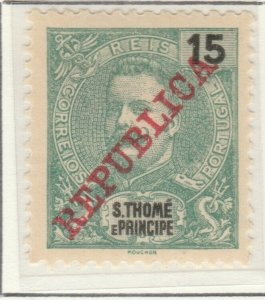 Portugal ST. THOMAS AND PRINCE ISLANDS 1911 15r MH* A5P55F6