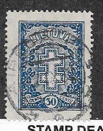 Lithuania  #217 (U) CV $10.00