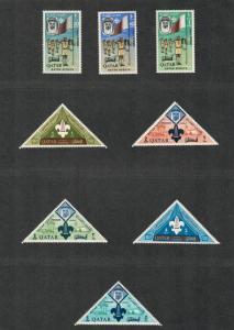 Qatar Sc#53-60, M/NH/VF, Complete Set, Scouts, Cv. $49.25