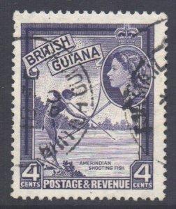 British Guiana Scott 256 - SG334, 1954 Elizabeth II 4c used