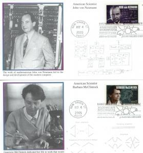 2005 American Scientists Set of 4  (Scott 3906-9) Mystic