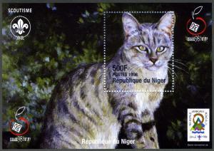 Niger 1998 Domestic Cat,Jamboree 1999 s/s Perforated mnh.
