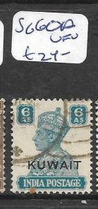KUWAIT (P01003B)  ON INDIA KGVI  6A  SG 60A    VFU