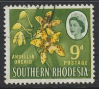 Southern Rhodesia  SG 98 SC# 101   Used  Ansellia Orchid