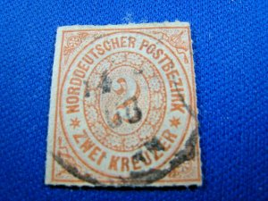GERMAN STATES STAMPS - 1868 N. GERMAN FEDERATION - SCOTT # 8   USED