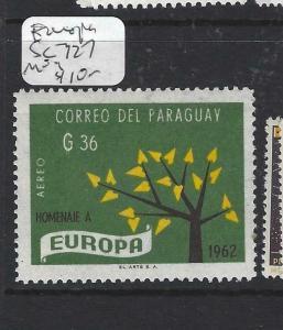 PARAGUAY  (P2505B)  EUROPA  SC 727   MOG