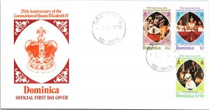 Dominica, Worldwide First Day Cover, Royalty
