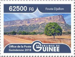 Guinea - 2019 Landscapes Fouta Djallon - Stamp - GU1801local10a