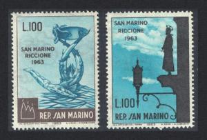 San Marino San Marino-Riccione Stamp Fair 2v SG#719-720
