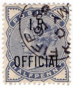 (I.B) QV Postal : IR Official ½d (SG OP05)