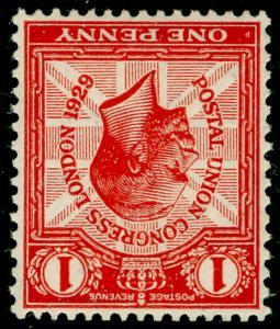 SG435Wi, 1d scarlet, NH MINT. Cat £35. WMK INVERTED.