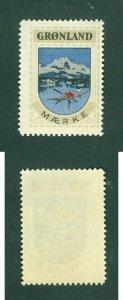 Greenland. Poster Stamp 1940/42. Mnh. Kayak,Ice,Birds.