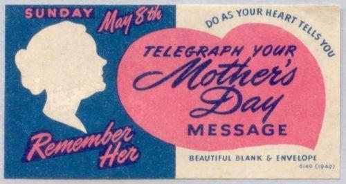 US - Western Union Mother's Day Telegraph Poster Stamp