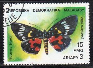 Malagasy Republic 1080 - CTO-NH - Eusemia bisma (Butterfly)