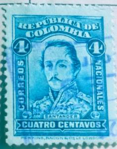 Columbia #241 Used with faint blue cancel