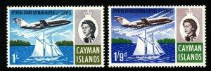 CAYMAN ISLANDS QE II 1966 Opening of Jet Service Set SG 203 & SG 204 MINT