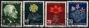 Switzerland #B166-9 F-VF Used CV $5.90  (X2612)