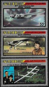 Djibouti #C229-31 MNH Set - Historic Flights
