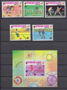 Z4099, 1980 NIGER mnh set + s/s #521-6 sports