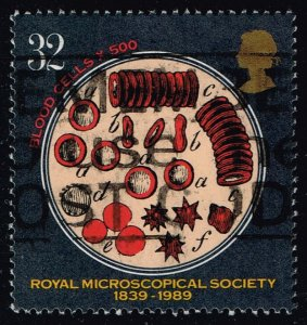 Great Britain #1287 Red Blood Cells; Used (0.95)