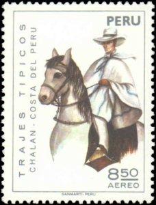 Peru #C414-C415, Complete Set(2), 1974, Horses, Never Hinged