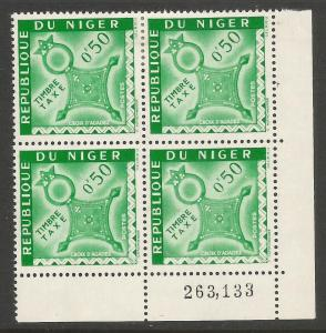 NIGER J22 MOG BLOCK OF 4