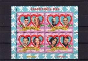 Somalia 2004  VALENTINE'S DAY/Roses  Sheetlet (4) Perforated MNH VF