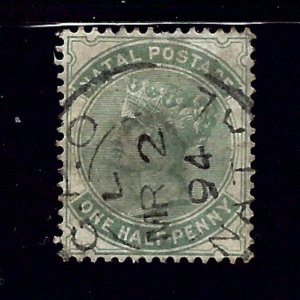 Natal 66 Used 1884 issue     #2