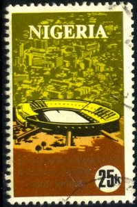 Stadium, 2nd All-Africa Games, 1973, Nigeria stamp SC#290 used