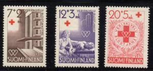 Finland Sc B104-6 1951 Red Cross stamp set mint NH