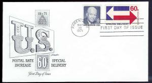 UNITED STATES FDC 60¢ Special Delivery 1971 Artmaster