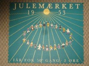 Denmark.. 1 Post Office,Display,Advertising Sign. Children. Christmas Seal 1953