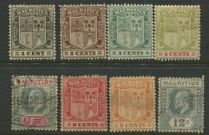 STAMP STATION PERTH Mauritius #137-144 KEVII Definitive Mint /Used  CV$30.00