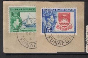 Gilbert & Ellice SG 53-4 Funafuti SON On Pieces VFU (10doq)