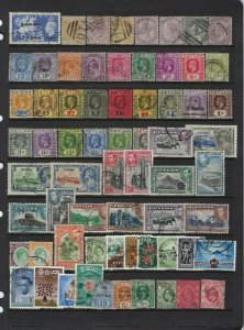 BRITISH ASIA- COLLECTION OF 500+ ALL USED- BAHRAIN TO STRAITS SETTLEMENTS