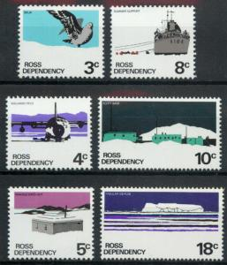 Ross Dependency Sc#L9-L14 1972 Definitive set Mint