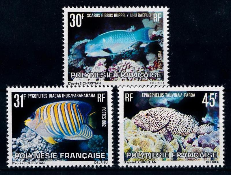 [64698] French Polynesia 1982 Marine Life Fish  MLH