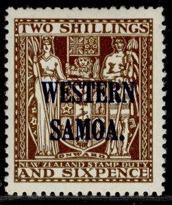 SAMOA GVI SG207, 2s 6d deep brown, M MINT. Cat £24.