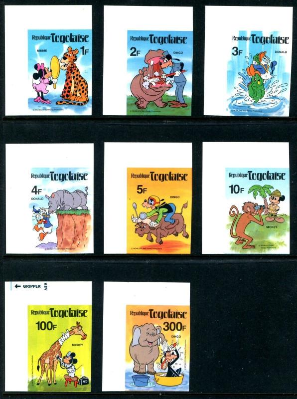 Togo 1064-71 Disney characters & Animals from Fazao Reserve Imperforeted x14664c