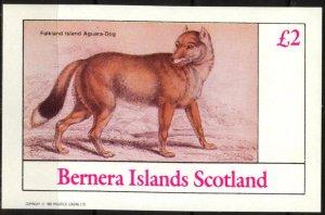 {B102} Bernera Scotland Falkland Aguara Dogs  S/S 2£ MNH Cinderella !!