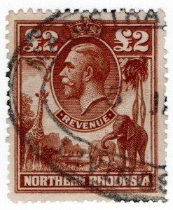 (I.B) Northern Rhodesia Revenue : Duty Stamp £2