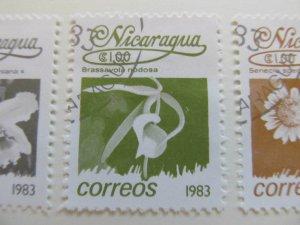 Nicaragua 1983 Flower 1cor fine used stamp A11P11F110