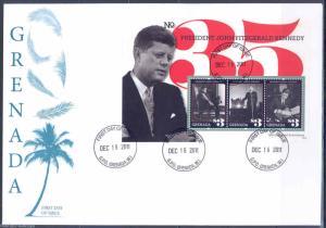 GRENADA   50th INAUGURAL ANNIVERSARY OF JOHN F. KENNEDY  SHEET II  FDC