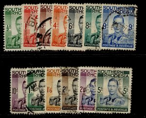 SOUTHERN RHODESIA SG40-52, complete set, USED. Cat £23.
