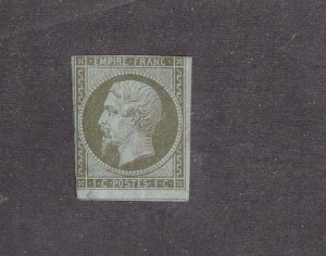 FRANCE # 12 LIGHT USED IMPERF CAT VALUE $70