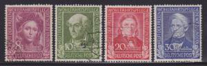 Germany B310-B313 VF-used set ! scv $ 145 ! see pic !